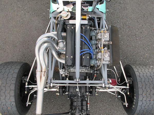 Lotus-Ford twin-cam engine.
