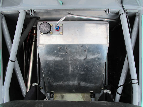 Fuel Safe wedge shaped aluminum under-seat fuel cell.