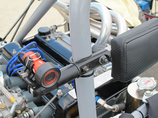 Left: camera. Right: roll hoop height has been raised to meet modern safety requirements.