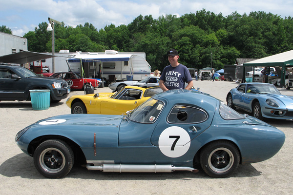Andy Seward's 1962 Marcos GT Gullwing Coupe, Racecar Number 7