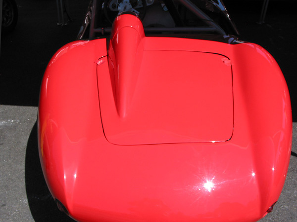 Devin boot lid with molded-in helmet fairing.