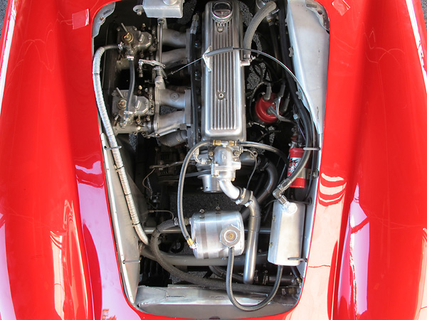Rebuilt and race prepared Triumph TR3 engine.