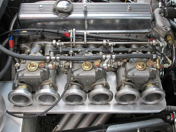 Triple Weber 45DCOE carburetors.