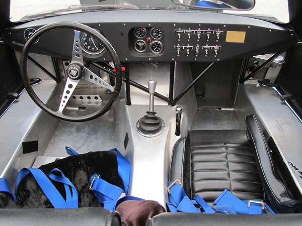 TR250K was equipped with a smaller diameter, three-spoke, non-perforated steering wheel at Sebring.