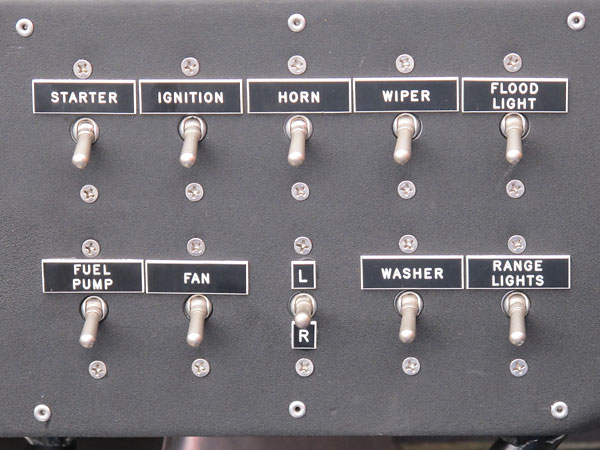Ten toggle switches.