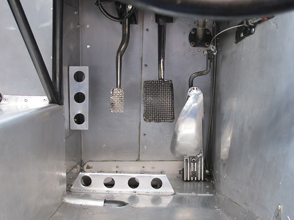 Bespoke fabricated pedals.