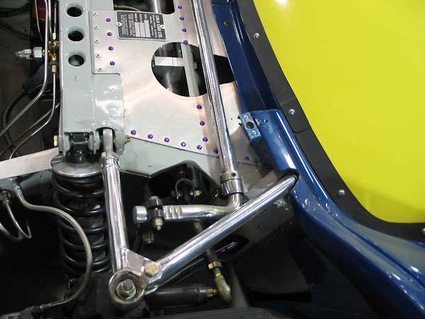 In plan view, upper and lower control arms are of essentially similar geometry.