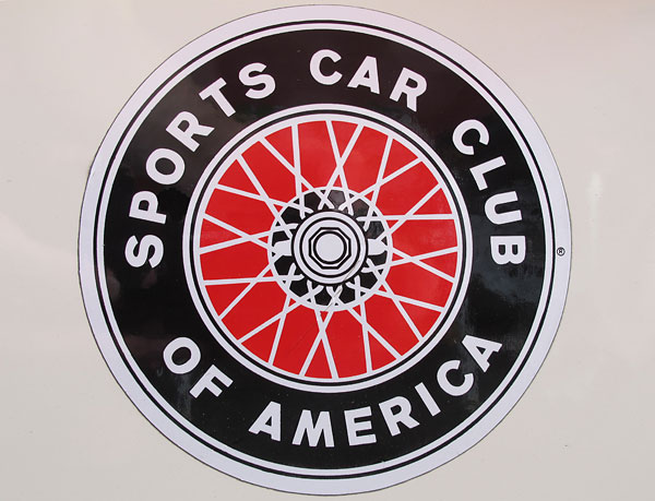 Sports Car Club of America decal.
