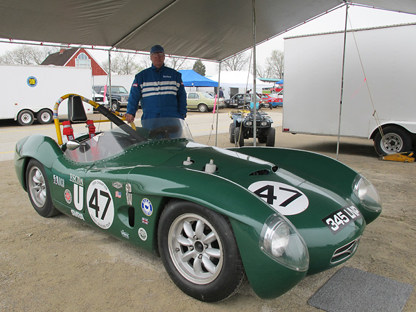 Bob Wismer is deservedly proud of this extremely well-presented and rare vintage racecar.