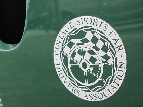 Vintage Sports Car Drivers Association decal.