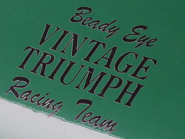 Beady Eye VINTAGE TRIUMPH Racing Team