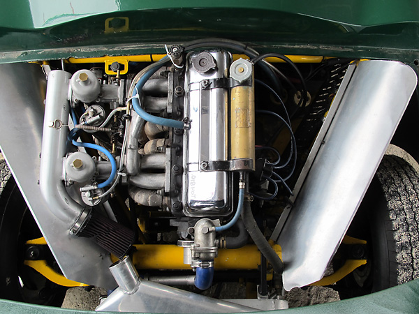 Triumph TR4 four cylinder engine.