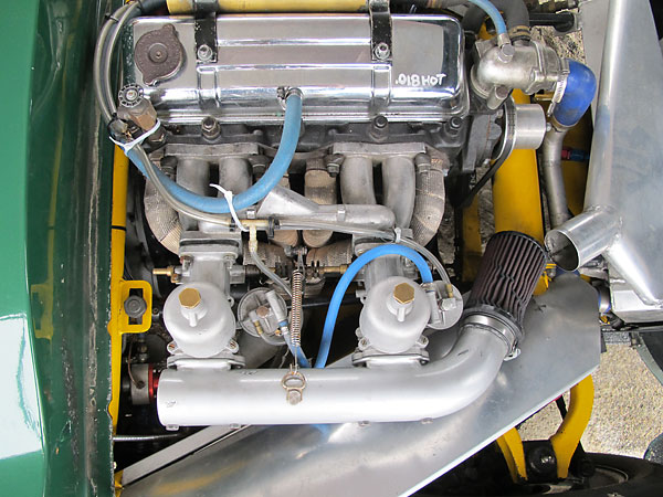 Dual S.U. H6 carburetors with special aluminum floats to avoid sinking.