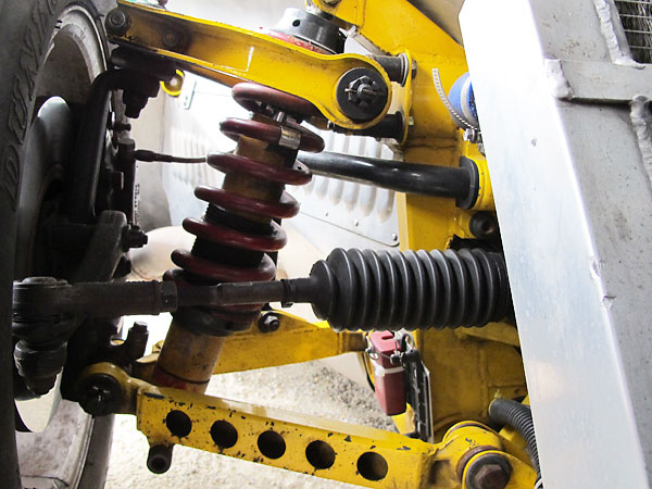 Coilover shock absorbers.