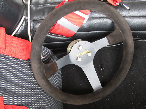 Momo suede covered steering wheel.