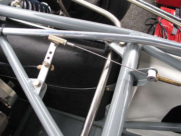 Throttle linkage on  Brabham BT30.