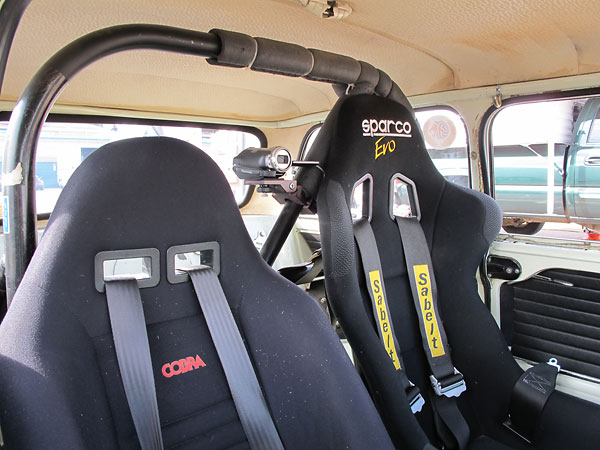 45 years on, Bruce McCalister's Cooper S MkII racecar still wears its original headliner & door cards!