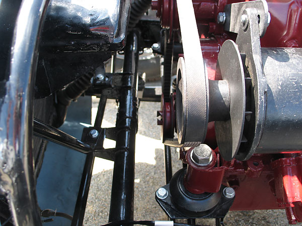 Engine pulleys and motor mount.