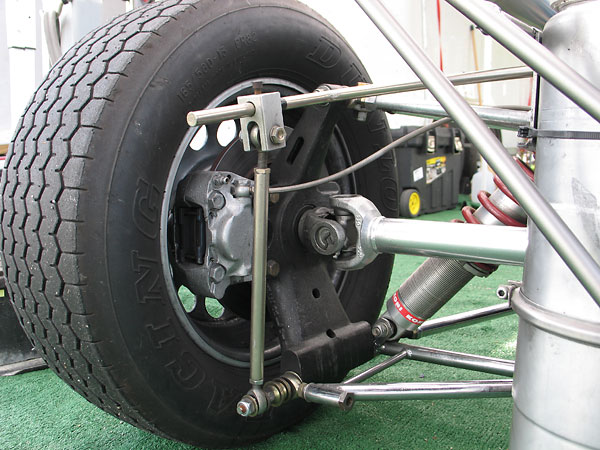 Merlyn's proprietary cast magnesium rear uprights, and an adjustable anti-roll bar.