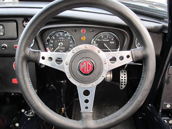 Moto-Lita leather wrapped steering wheel.