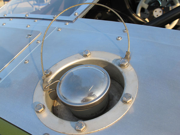 Recessed fuel filler.