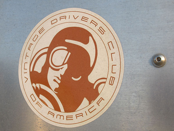 Vintage Drivers Club of America sticker.