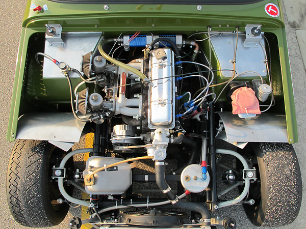This TVR's four cylinder engine was originally installed in Dennis' Triumph.