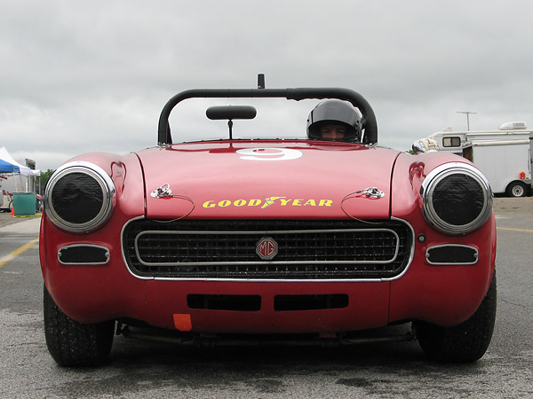 The grille is of the 1970-1974 style, and the valance under it is from a 1500cc rubber bumper Midget.