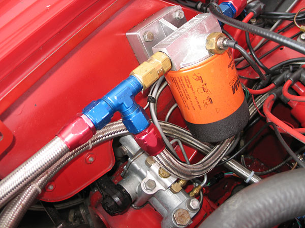 Mocal remote oil filter mount. Fram oil filter.
