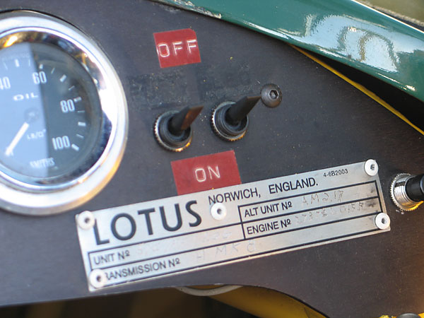 LOTUS, Norwich, England vehicle identification number plate