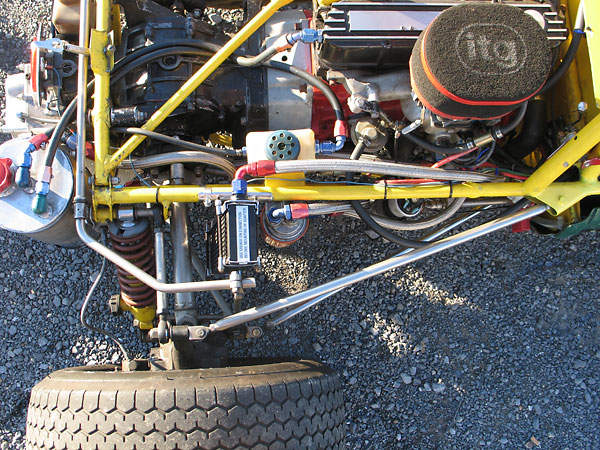 Front and rear anti-sway bars are adjustable in the usual way.