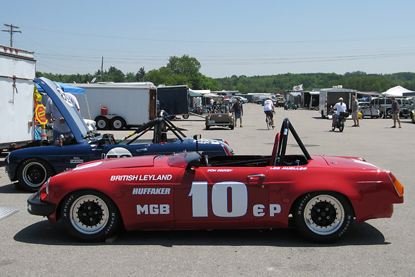 Don Dickey's Red Huffaker MGB