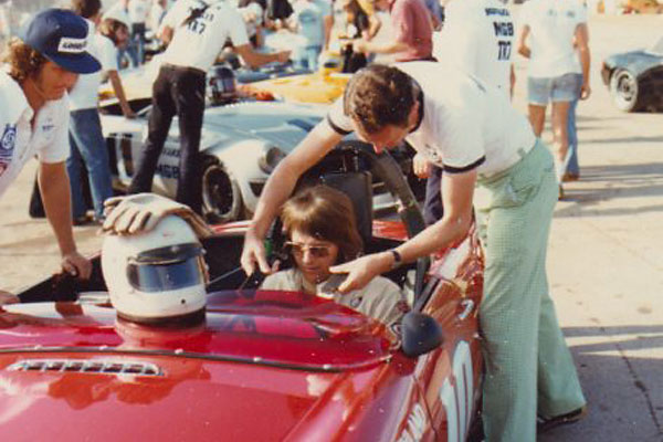 1978 SCCA Runoffs - Lee Mueller Being Strapped In (photographer: Dwayne Anderson)