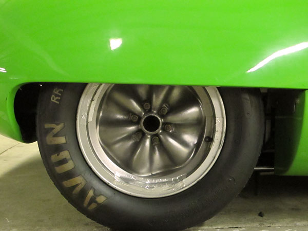 Lotus wobbly web magnesium racing wheels.