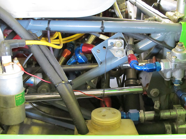 Lotus 23B engine oil cooler plumbing.