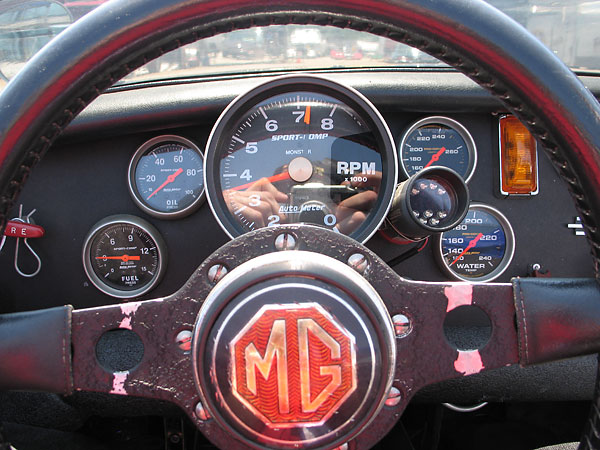 AutoMeter Sport-Comp Monster (five inch) tachometer.