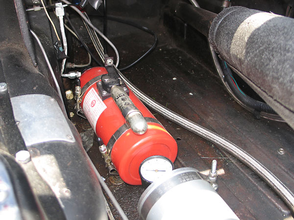 Emergency Suppression Systems (ESS) 2.3L fire suppression system.
