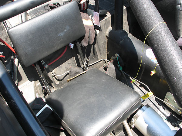 Stadium seat (installed to avoid the 20# weight penalty assessed for removal of passenger seat.)
