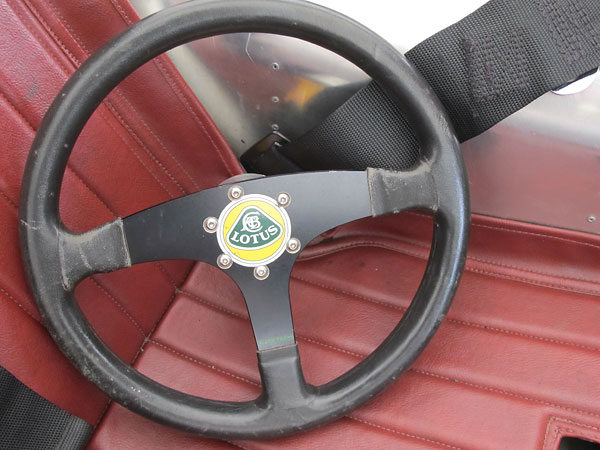 RaceTech leather wrapped aluminum steering wheel.