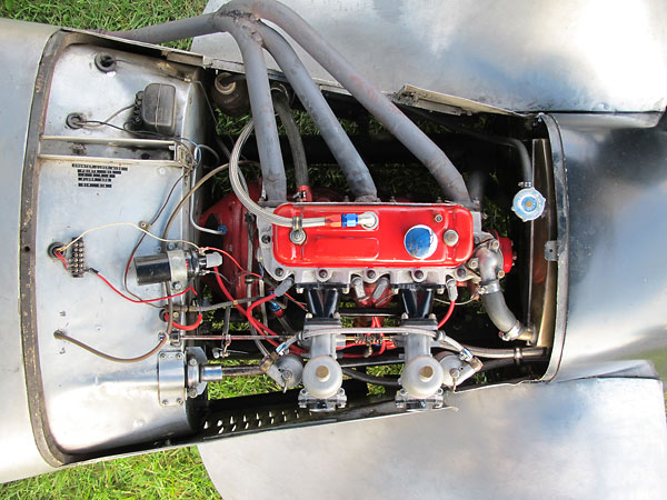 This is the same MGA 1500cc motor that James Miller originally installed in the late 1950s.