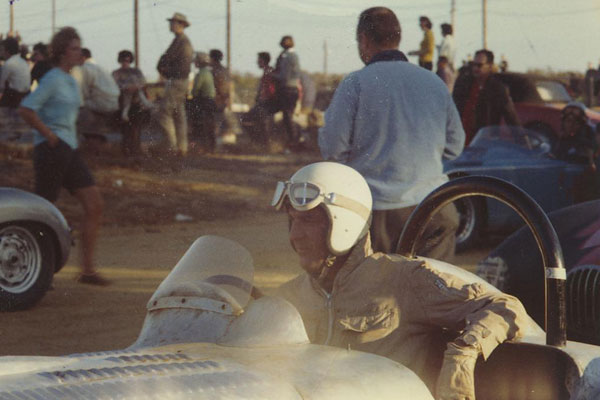 James Shoup Miller waits patiently in the pre-grid at Vineland, NJ in 1961.