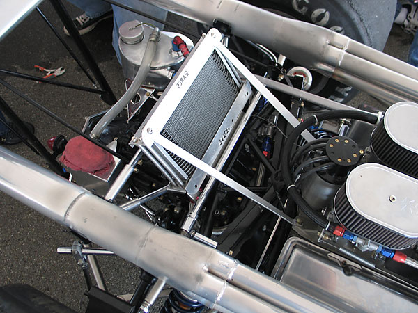Earl's Performance Products engine oil cooler.