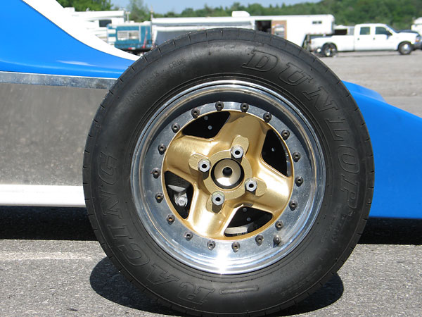 Revolution modular (3-piece) aluminum wheels.