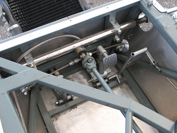Hawke mounted the steering rack rearward of the front bulkhead.