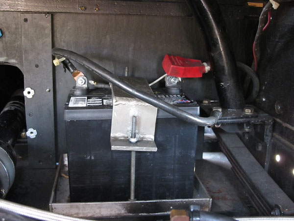 This car has been converted to one 12V battery, and from positive to negative ground.
