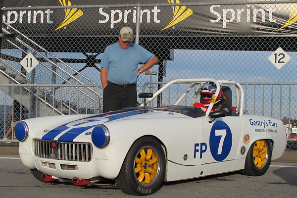 Harry Gentry's 1962 MG Midget Vintage Racecar, Number 7