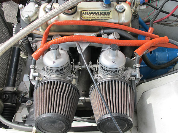 S.U. carburetors rebuilt by Huffaker Engineering.