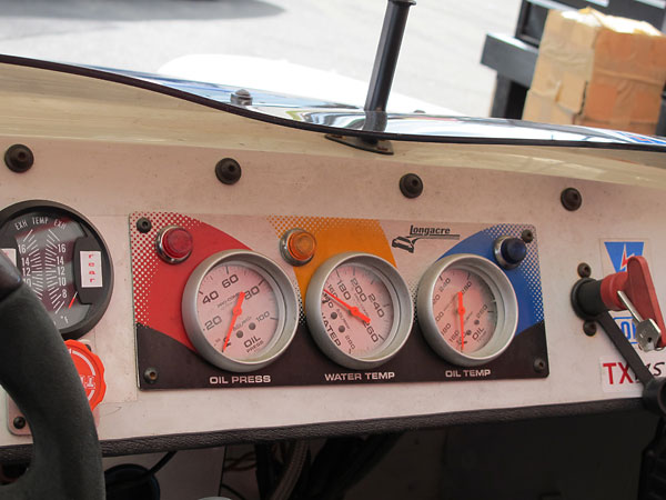 Longacre Racing Products gauge panel with AutoMeter Pro-Comp Ultra-Lite gauges.
