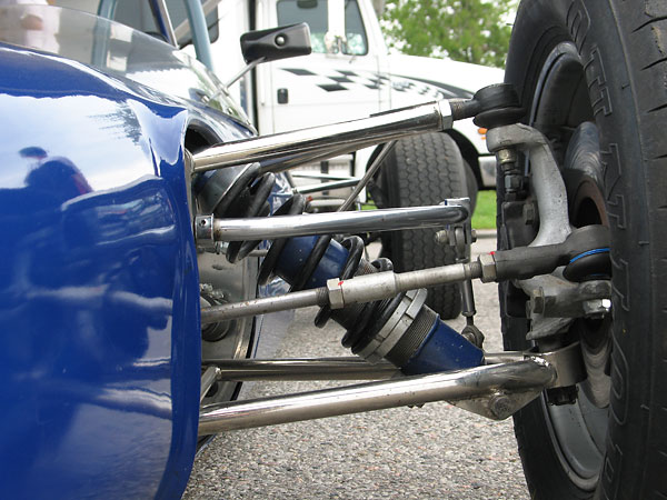 Tie rod ends are installed at the upper control arm (outboard) and steering arm connections.