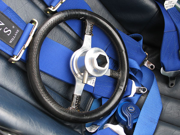 A quick release steering wheel hub is an important safety and convenience upgrade.